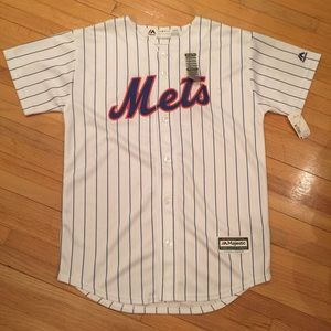 Majestic Mets jersey youth L 14/16 NWT